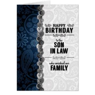 Voor Onze Schoonzoon op zijn Verjaardag Blauw Briefkaarten 0