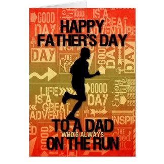 voor Papa op Vaderdag | Thema van de Sport van de Wenskaart