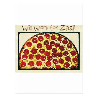 Voor Pizza zal werken Briefkaart