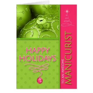 voor Roze en Groene Moderne Kerstmis van de Kaart