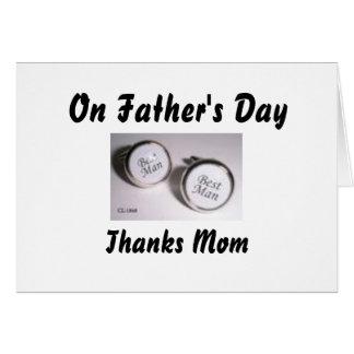 Voor Vaderdag, het Mamma van het Bedankt Briefkaarten 0