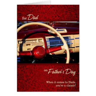 voor Vaderdag van de Auto van het Vaderdag van de Briefkaarten 0