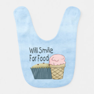 Voor Voedsel zal glimlachen Baby Slabbetje