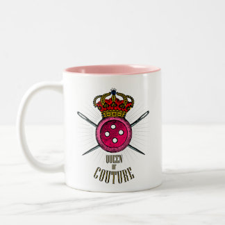 Voor Who van Mensen Liefde die naaien: Koningin Tweekleurige Koffiemok