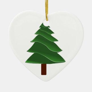 Voorbij de Pijnboom Keramisch Hart Ornament