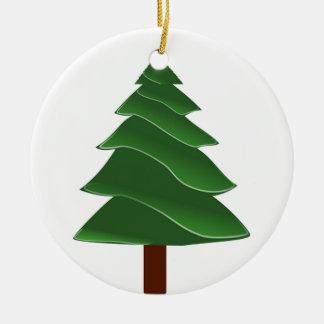 Voorbij de Pijnboom Rond Keramisch Ornament