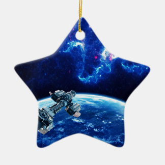 Voorbij het Blauw Keramisch Ster Ornament