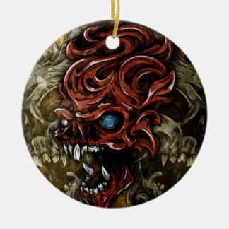 Voorbij Schedels Rond Keramisch Ornament