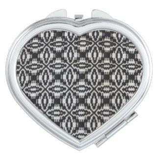 Voorbijgeschoten Wevende Compacte Spiegel Make-up Spiegeltjes