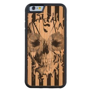 Voorgeborchte der hel, schedel met papaverogen kersen iPhone 6 bumper hoesje