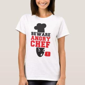 VOORZICHTIG ZIJN BOZE CHEF-KOK! kook het koken T Shirt