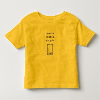 Voorzichtig zijn! De mobiele T-shirt van de Ekster