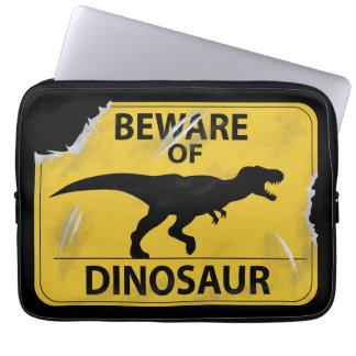 Voorzichtig zijn van (beschadigde) Dinosaurus Computer Sleeve