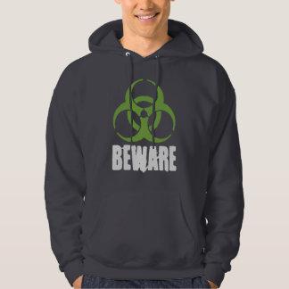 voorzichtig zijn van gevaarlijk fartman hoodie