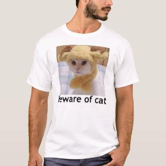 Voorzichtig zijn van kat t shirt