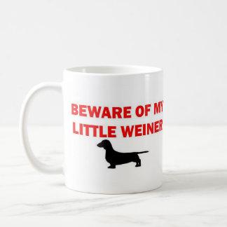 Voorzichtig zijn van Mijn Kleine Grap Weiner Koffiemok