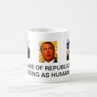 Voorzichtig zijn van Republikeinen die als mensen Koffiemok