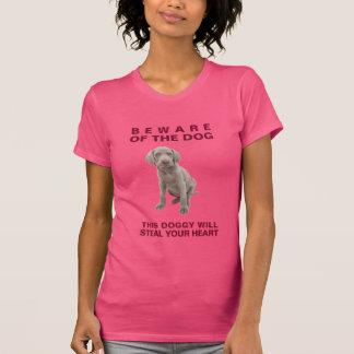 Voorzichtig zijn van Van een hond hond-dit zal T Shirt