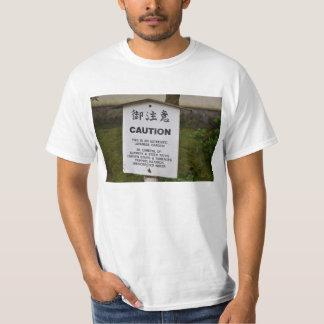 Voorzichtigheid: Authentieke Japanse Tuin T Shirt