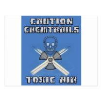 Voorzichtigheid Chemtrails - Giftige Lucht Briefkaart