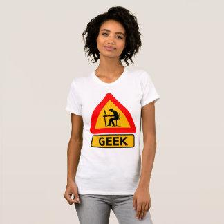 Voorzichtigheid - Geek op het Werk T Shirt