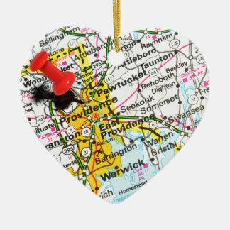 Voorzienigheid, Rhode Island Keramisch Hart Ornament
