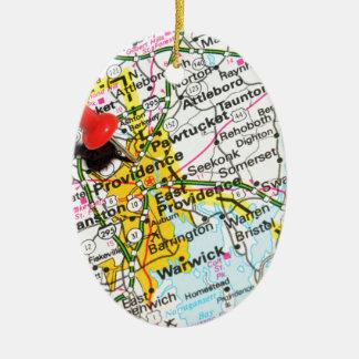 Voorzienigheid, Rhode Island Keramisch Ovaal Ornament