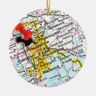Voorzienigheid, Rhode Island Rond Keramisch Ornament