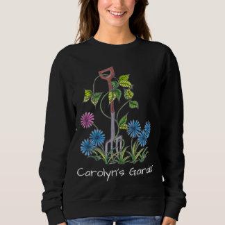 Vork en bloemen met uw naam en tekst trui
