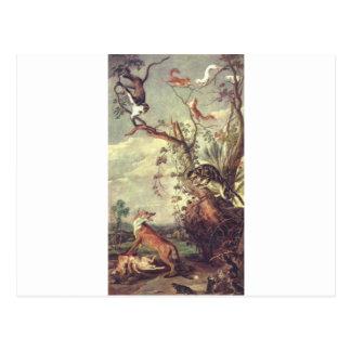 Vos en kat door Frans Snyders Briefkaart
