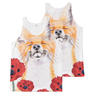 vos en papavers All-Over-Print tank top