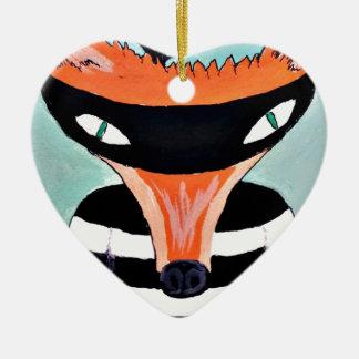 Vos en Rovers door PaperTree Keramisch Hart Ornament