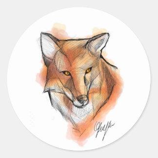 Vos Stiker Ronde Sticker