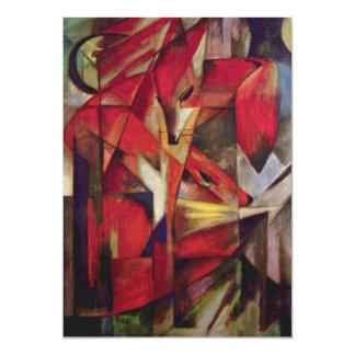 Vossen door Franz Marc, Vintage Abstract Kubisme Persoonlijke Aankondiging