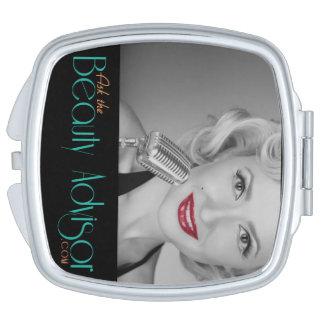 Vraag de compacte Adviseur van de Schoonheid Make-up Spiegels