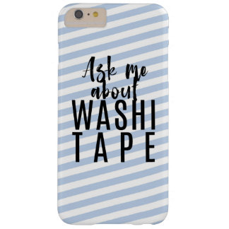 Vraag me over Band Washi - de Blauwe Strepen van Barely There iPhone 6 Plus Hoesje