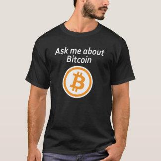 Vraag me over Bitcoin - Dark T Shirt