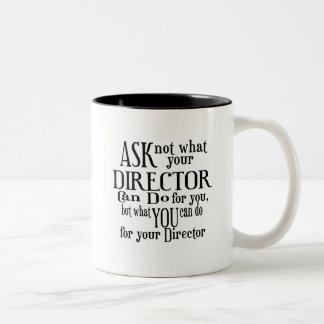 Vraag niet Directeur Tweekleurige Koffiemok