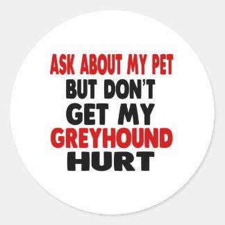 Vraag over mijn Windhond Ronde Stickers