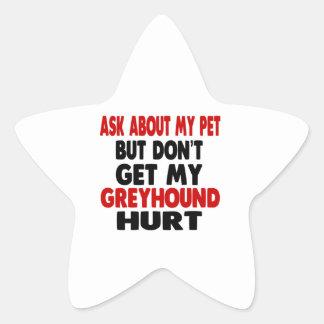 Vraag over mijn Windhond Stervormige Sticker