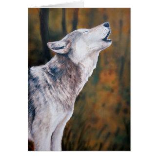 """""""Vraag van de Wilde"""" Kunst Notecard van de Wolf Briefkaarten 0"""