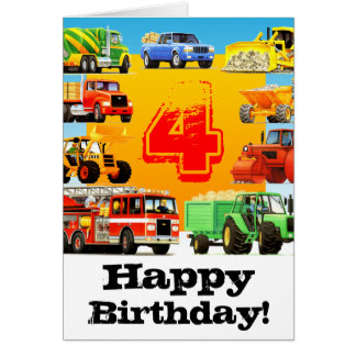 Vrachtwagens van de Verjaardag van de jongen de Kaart