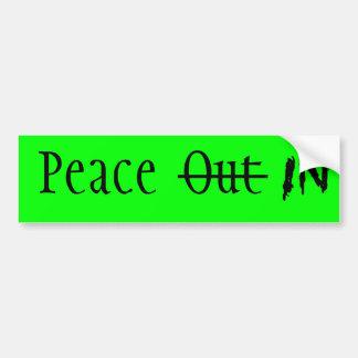 Vrede binnen bumpersticker