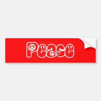 Vrede Bumpersticker