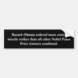 Vrede door Obama Bumpersticker