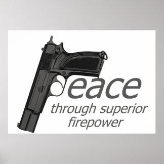 vrede door vuurkracht poster