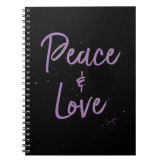 Vrede-en-liefde-paars Notitieboek