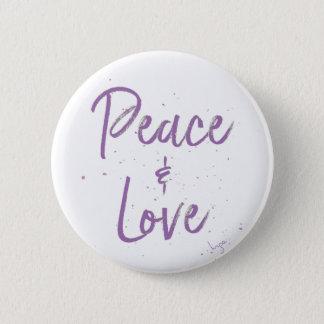 Vrede-en-liefde-paars Ronde Button 5,7 Cm