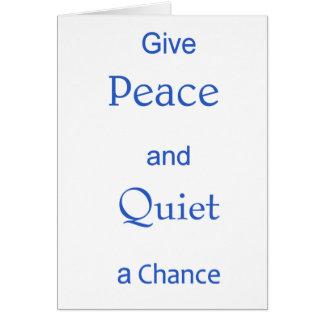 vrede en stil wenskaart