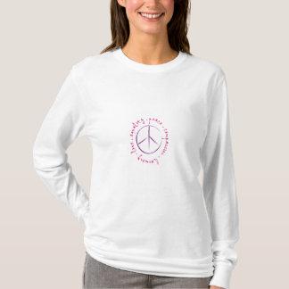 vrede. gelijkheid. medeleven. harmonie. liefde t shirt